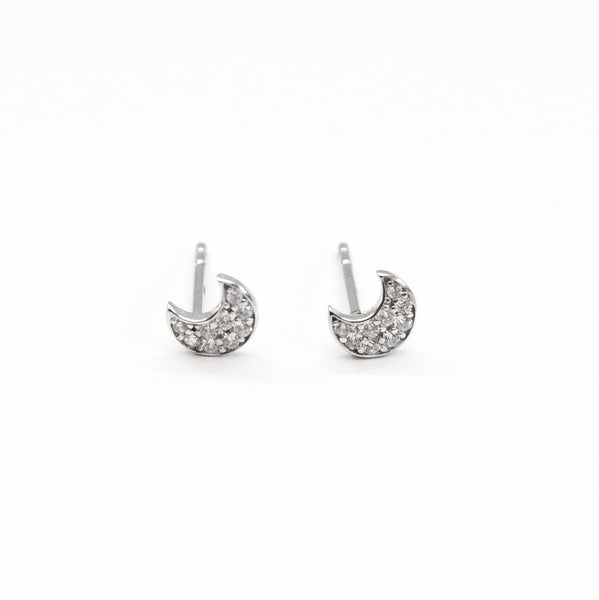 - A| Adorable Crescent Studs Sterling Silver - anelarevese - 3