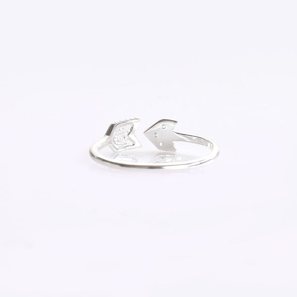 Arrow With CZ Sterling Silver Ring - anelarevese - 2
