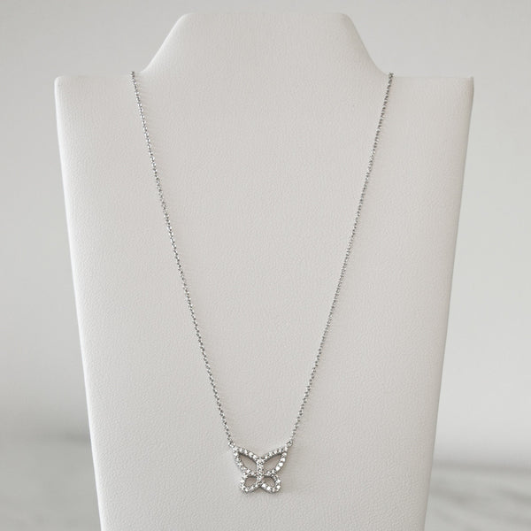 - A| Butterfly Pendant Necklace Sterling Silver