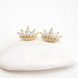 A- Crown Earrings G Sterling Silver - anelarevese - 1