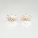 A- Crown Earrings G Sterling Silver - anelarevese - 2