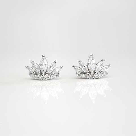 - Crown Earrings Sterling Silver - anelarevese - 1