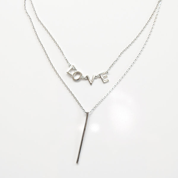 - Double Line Love Sterling Silver - anelarevese - 1