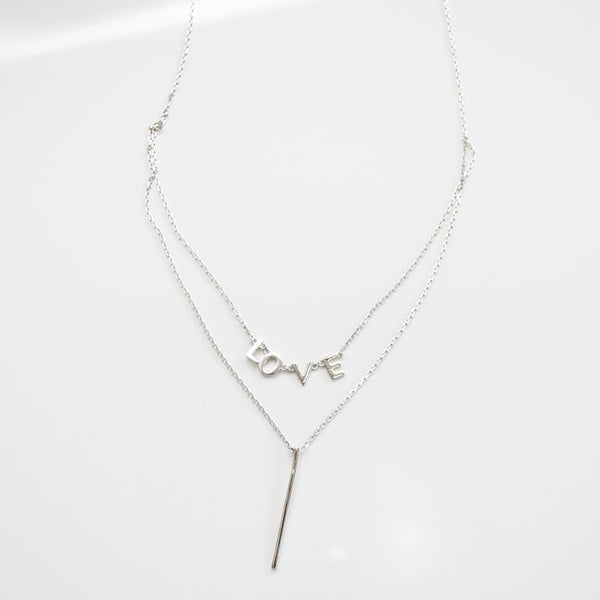 - Double Line Love Sterling Silver - anelarevese - 2