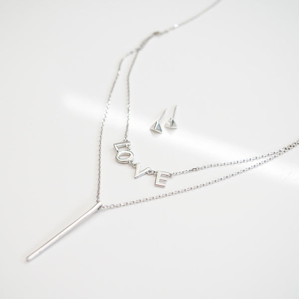 - Double Line Love Sterling Silver - anelarevese - 3