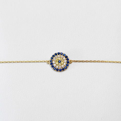 - A | Gold & Blue Bracelet Sterling Silver
