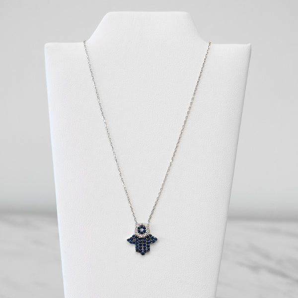 - A| Hamsa Necklace Sterling Silver