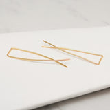 - A| Hooked on Hoop Gold Earrings Sterling Silver - anelarevese - 2