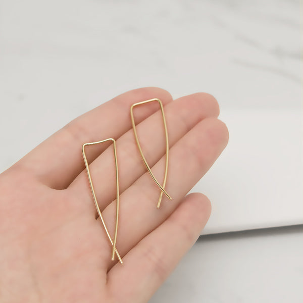 - A| Hooked on Hoop Gold Earrings Sterling Silver - anelarevese - 3