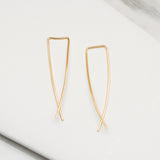 - A| Hooked on Hoop Gold Earrings Sterling Silver - anelarevese - 1