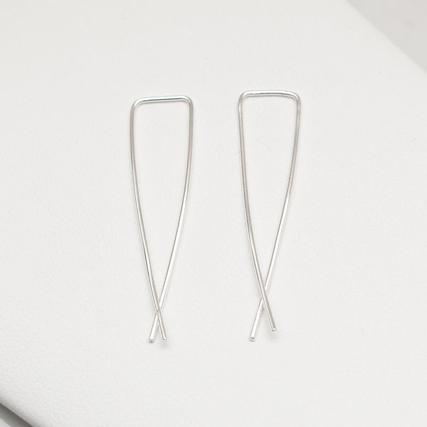 - A| Hooked on Hoop Silver Earrings Sterling Silver - anelarevese - 2