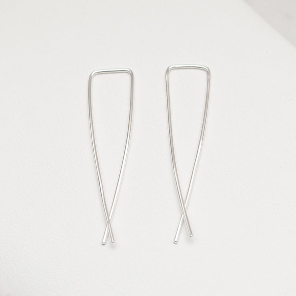 - A| Hooked on Hoop Silver Earrings Sterling Silver - anelarevese - 1