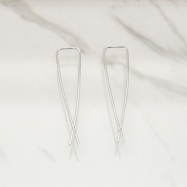 - A| Hooked on Hoop Silver Earrings Sterling Silver - anelarevese - 4