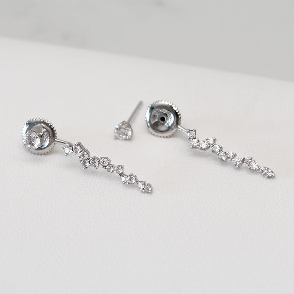 - A| Icicle Earrings Sterling Silver