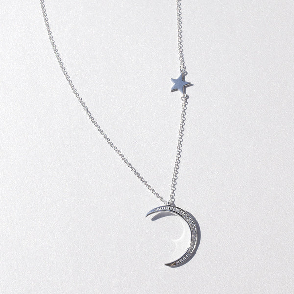 - Star and Crescent Sterling Silver - anelarevese - 1