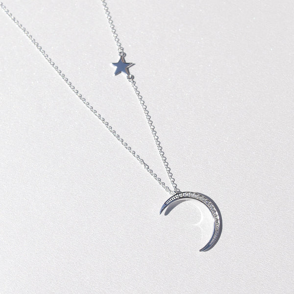 - Star and Crescent Sterling Silver - anelarevese - 2