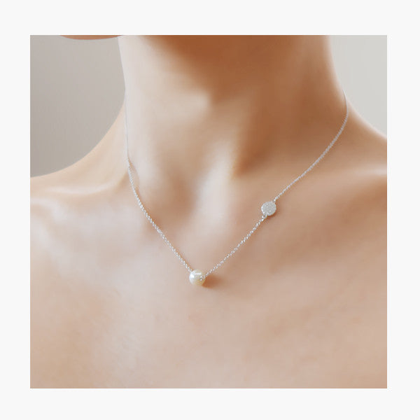- Pearl Shiny Necklace Sterling Silver - anelarevese - 4