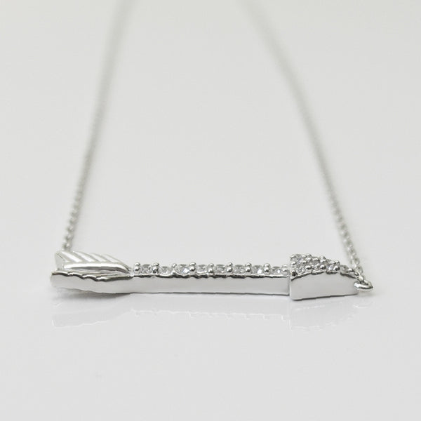 A| Arrow with CZ Sterling Silver - anelarevese - 2