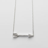 A| Arrow with CZ Sterling Silver - anelarevese - 1