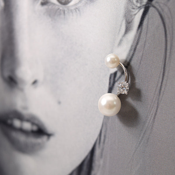 - Pearls and CZ Sterling Silver - anelarevese - 2