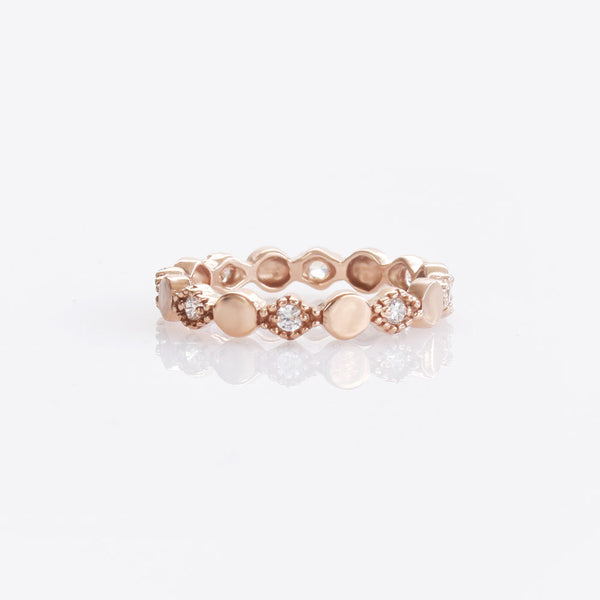 Rose Gold Ring With CZ Sterling Silver - anelarevese - 1
