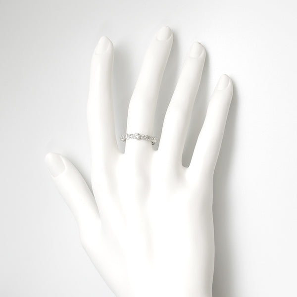 A- CZ Ring Sterling SIlver - anelarevese - 3