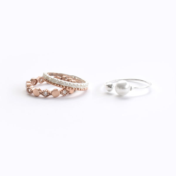 Rose Gold Ring With CZ Sterling Silver - anelarevese - 3