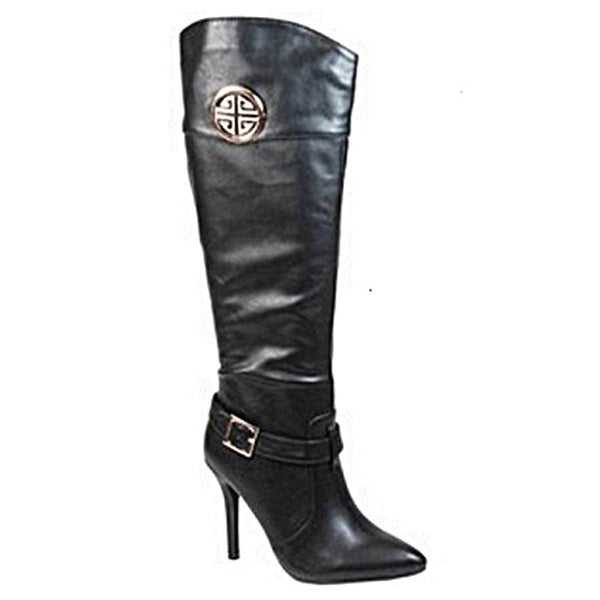 MOMENTUM- Black High Heel Boot