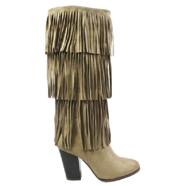 ROMEY- Fringe High Heel Boot
