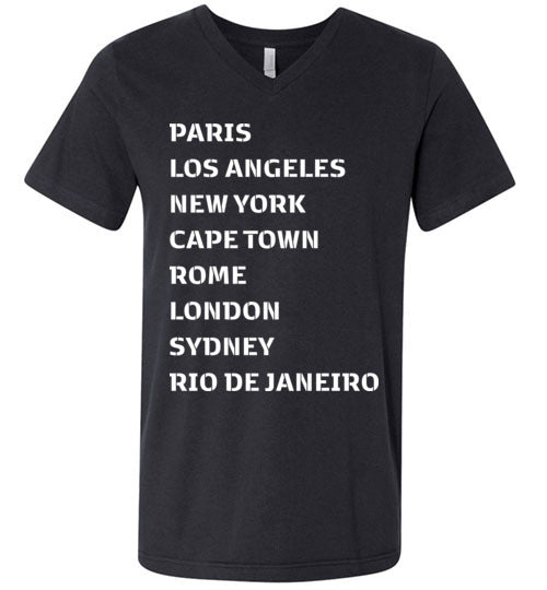 Been Around The World Unisex V-Neck-The Work Hard Travel Well Store