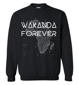 Wakanda Forever Sweatshirt-Unisex-The Work Hard Travel Well Store