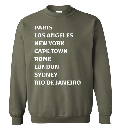 Been Around the World Unisex Crewneck Sweatshirt-The Work Hard Travel Well Store