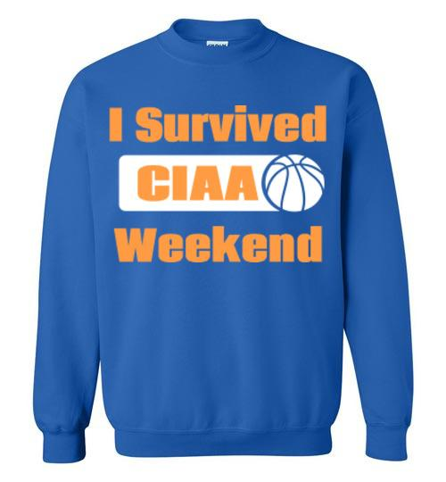I Survived CIAA Unisex Crewneck Sweatshirt-The Work Hard Travel Well Store