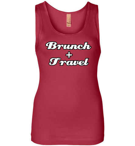 BRUNCH AND TRAVEL LADIES TANK-The Work Hard Travel Well Store