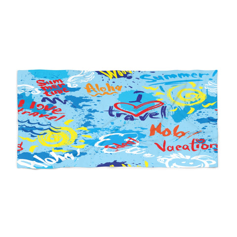I love travel Beach Towel-Home Decor-The Work Hard Travel Well Store
