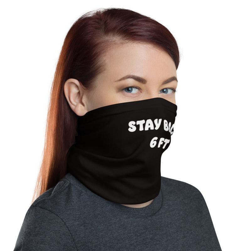 Stay Back Six Feet Half-Face Half-Face Mask Face Guard Neck Gaiter Sun Cover Skull Hair Head Band Bandana-The Work Hard Travel Well Store