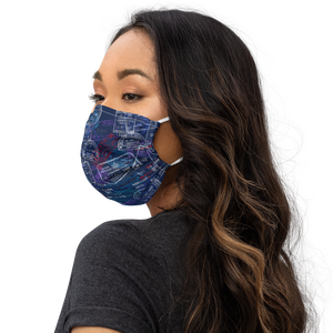 Face Mask with Passport Stamps-The Work Hard Travel Well Store