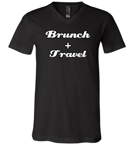 BRUNCH AND TRAVEL UNISEX V-NECK