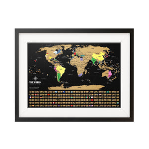 Travel Tracker Map From Land Mass Goods-The Work Hard Travel Well Store