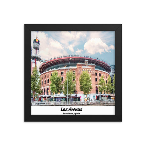 Las Arenas Barcelona Spain Framed photo paper poster-The Work Hard Travel Well Store
