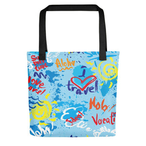I Love Travel Tote bag-The Work Hard Travel Well Store
