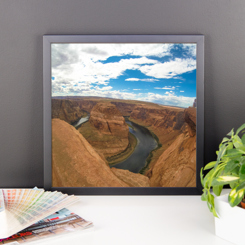 Framed Horseshoe Bend Office Photo-The Work Hard Travel Well Store