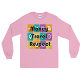 Money Travel Respect Long Sleeve Unisex T-Shirt Various Colors