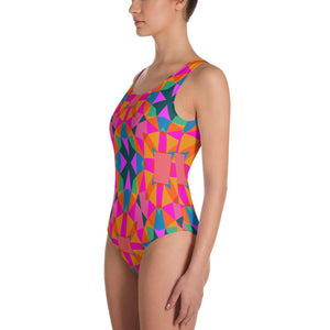 Tribal One-Piece Swimsuit-The Work Hard Travel Well Store