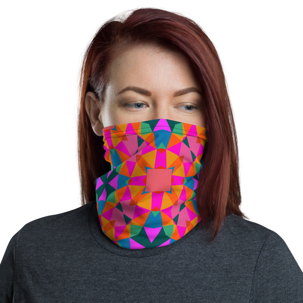 Kaleidoscope	Half-Face Mask Face Guard Neck Gaiter Sun Cover Skull Hair Head Band Bandana-The Work Hard Travel Well Store