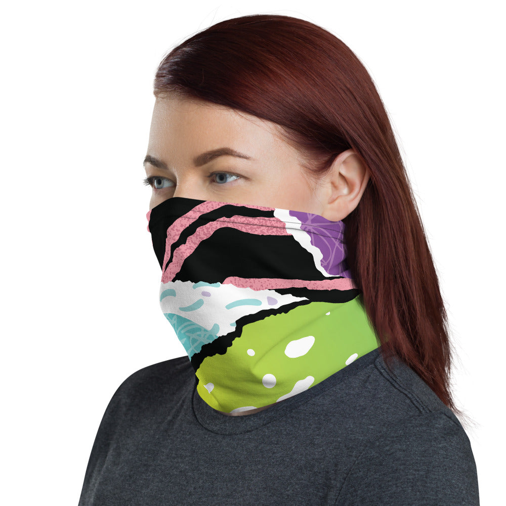 Muilti-Colored Half-Face Mask Face Guard Neck Gaiter Sun Cover Skull Hair Head Band Bandana Neck gaiter-Unisex-The Work Hard Travel Well Store