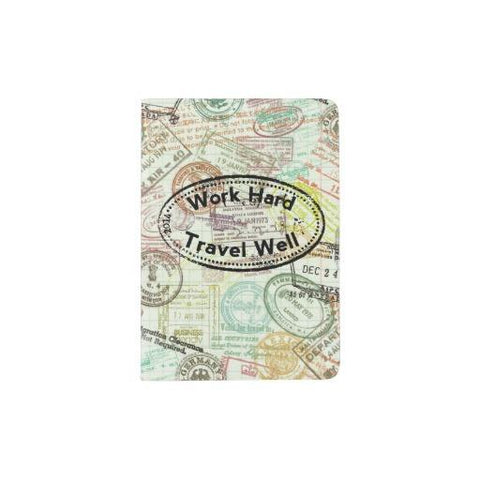 Work Hard Travel Well Passport Holder
