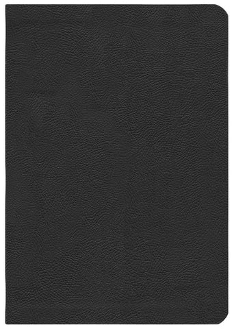 ESV Study Bible; Black Genuine Leather, THUMB-INDEXED
