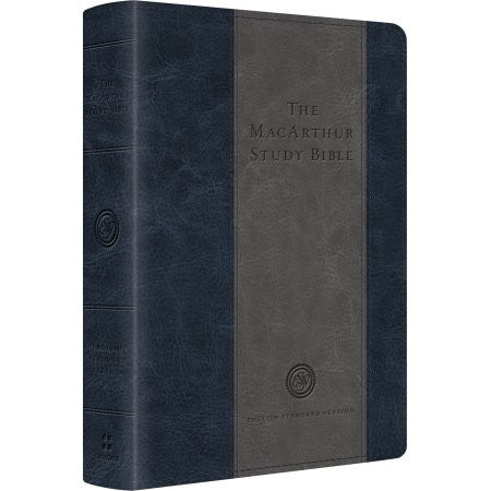 ESV MacArthur Study Bible, Personal Size, TruTone, Charcoal / Blue