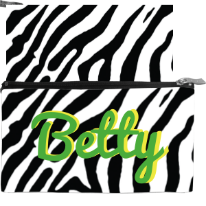Zebra-BW Medium Cosmetic Bag